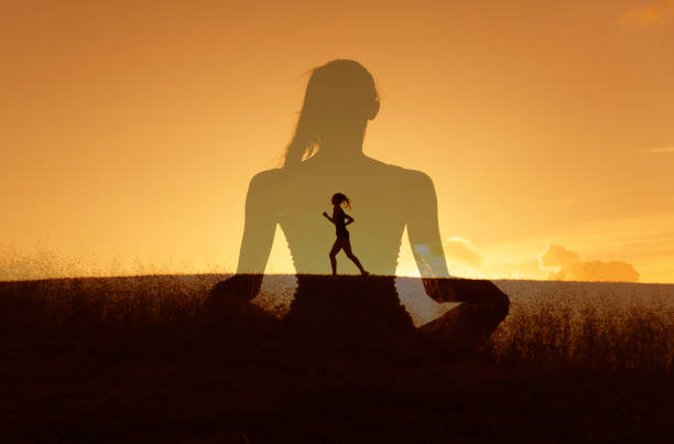 Healthy mind body and spirit stock photo