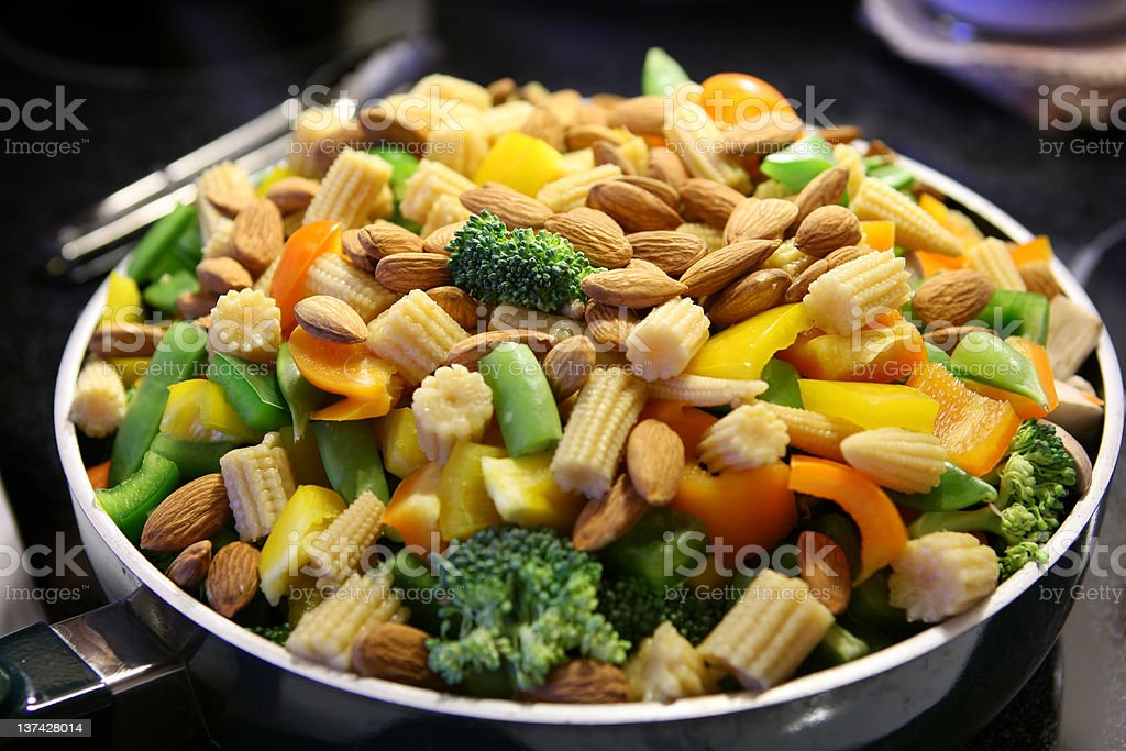 Healthy Mixed Vegetables royalty-free stock photo
