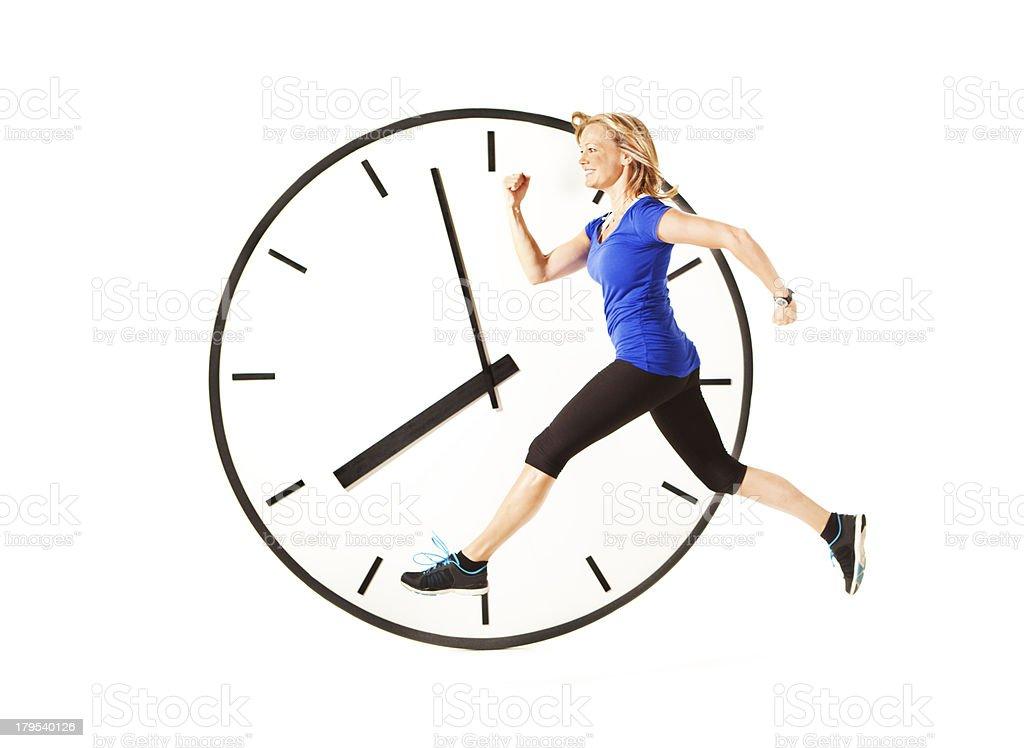 Healthy Morning Jogger runner Exercising on White stock photo