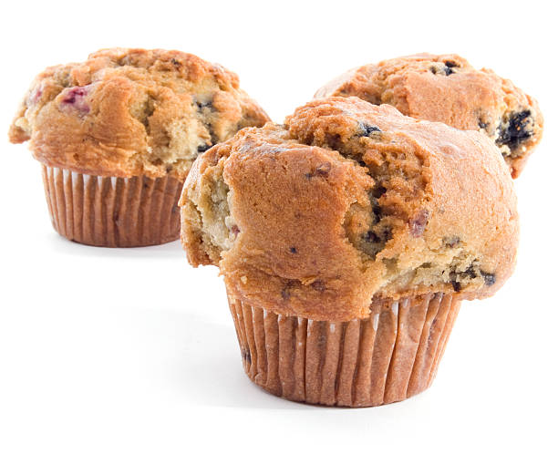 Healthy Muffins on White stock photo