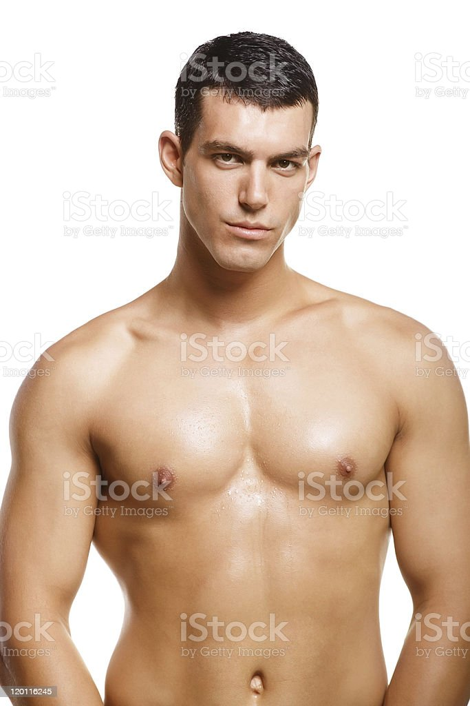 Healthy muscular young man royalty-free stock photo