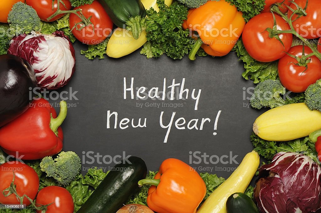 Healthy new year stock photo