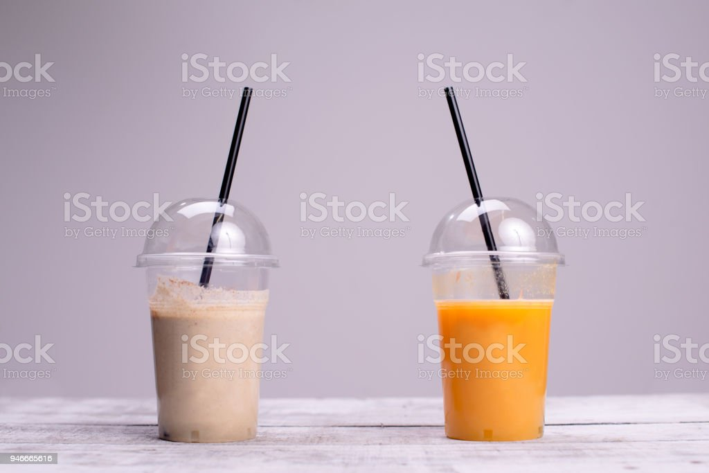 Healthy non-alcoholic beverage stock photo