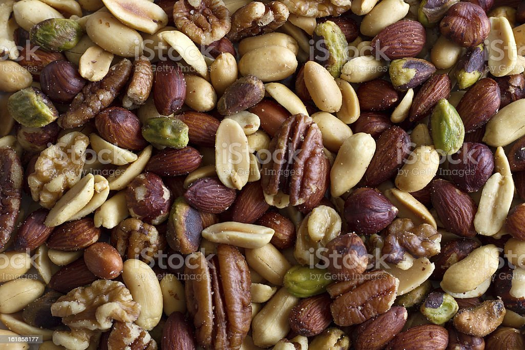 Healthy nuts stock photo