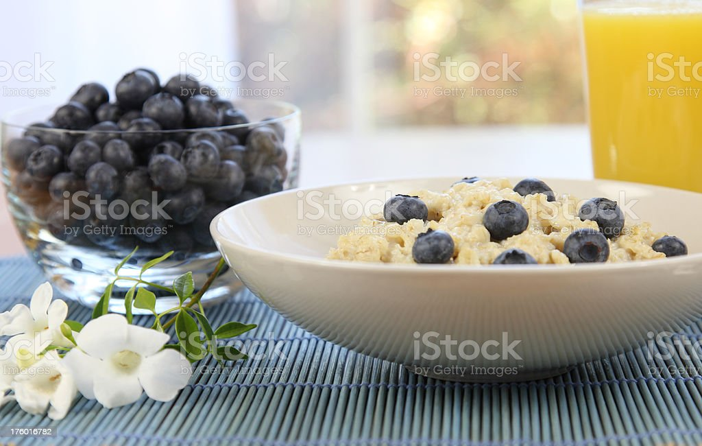 Healthy Oatmeal Breakfast royalty-free stock photo