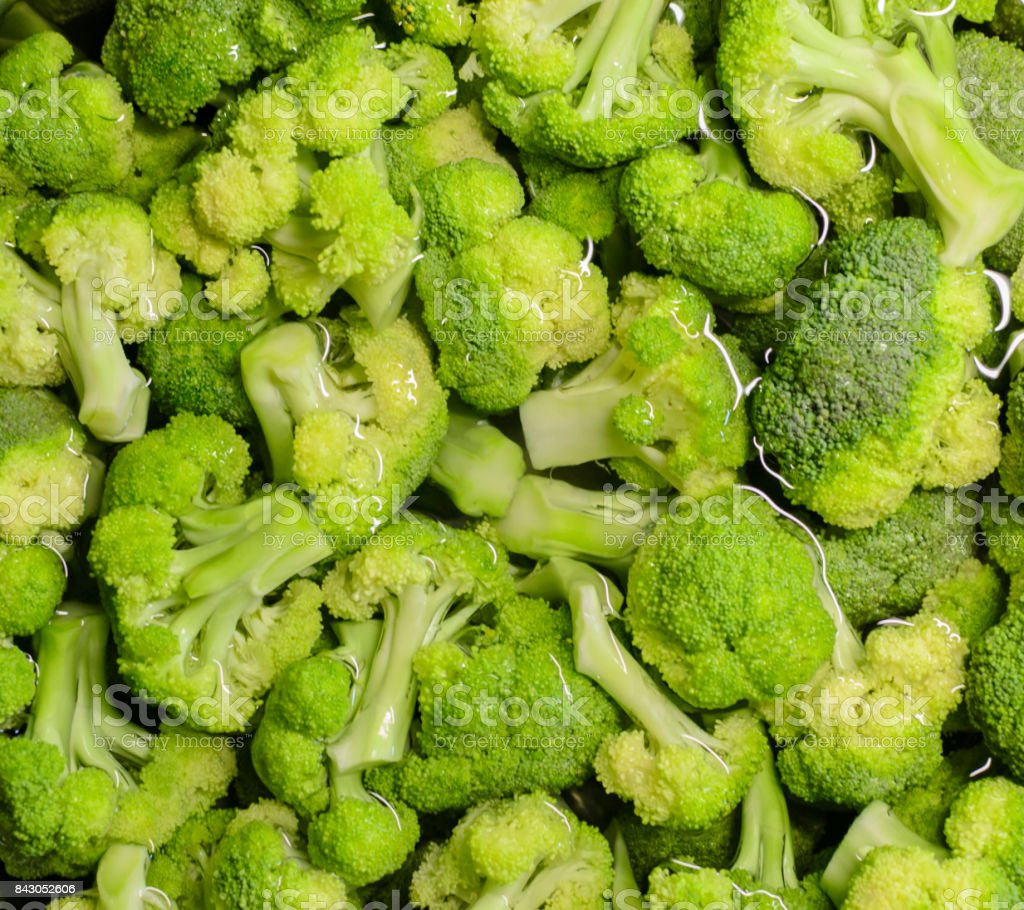 Healthy organic food raw green fresh broccoli stock photo