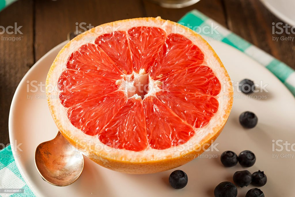 Healthy Organic Grapefruit for Breakfast stock photo