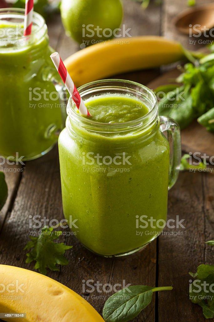 Verde orgânico Smoothie de frutas saudáveis - foto de acervo