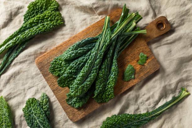 Healthy Organic Green Lacinato Kale stock photo