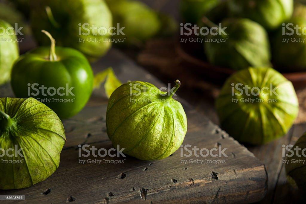 Healthy Organic Green Tomatillos stock photo