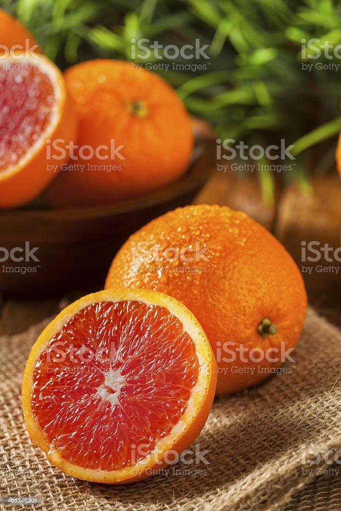 Healthy Organic Ripe Blood Orange royalty-free stock photo