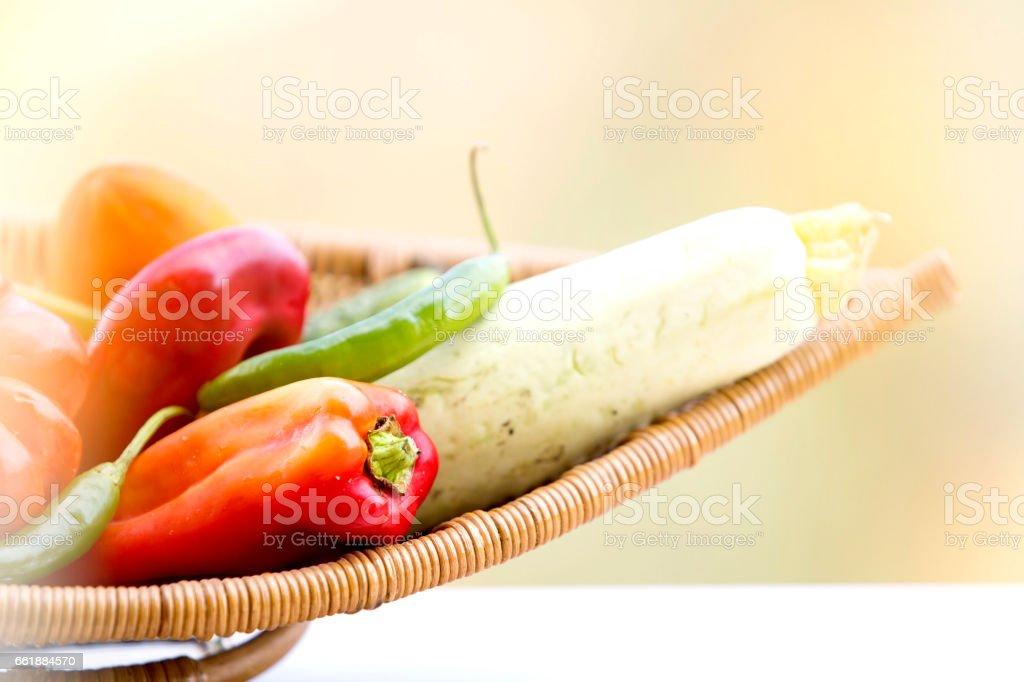 Healthy Organic Vegetables stock photo