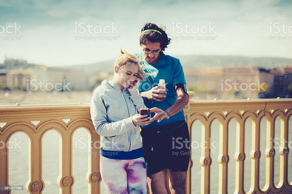 Healthy outdoors exercising stock photo