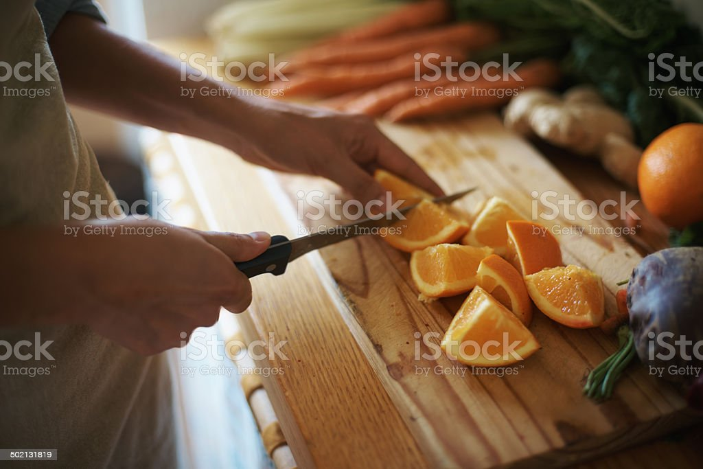 Healthy outside starts from the inside stock photo