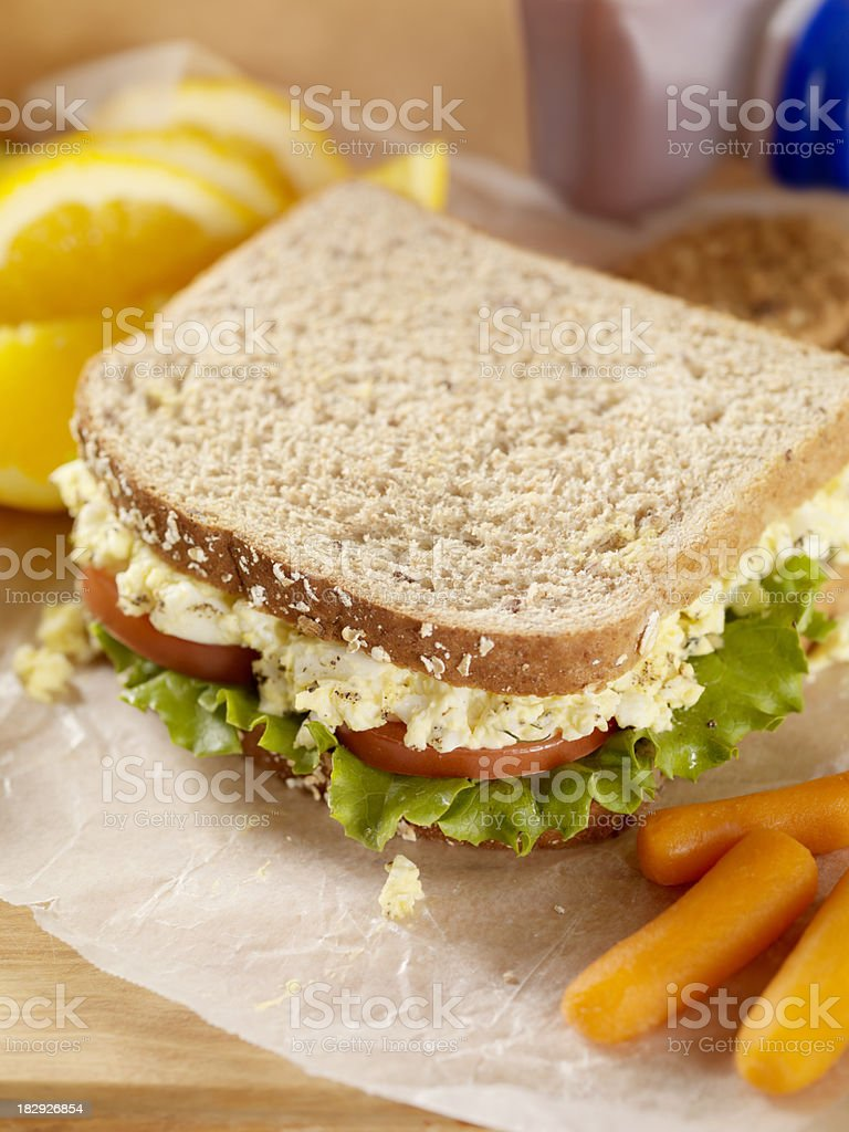 Healthy Packed Lunch royalty-free stock photo