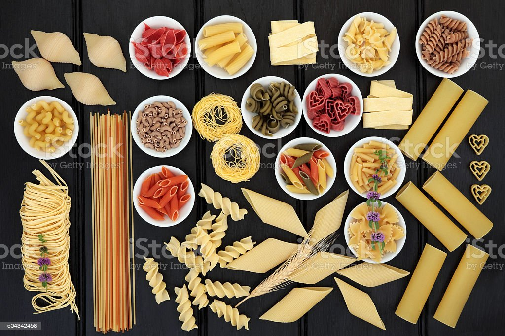Healthy Pasta Selection stock photo