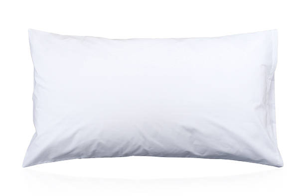 Healthy pillow isolated on white Healthy pillow to support your neck isolated on white pillow stock pictures, royalty-free photos & images