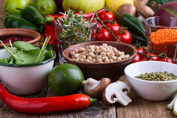 Gesunden pflanzlichen veganes Essen – Foto