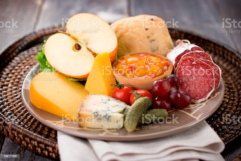Healthy Ploughman's Lunch stock photo