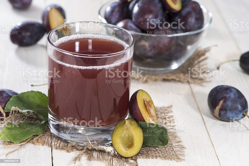 Healthy Plum Juice stock photo