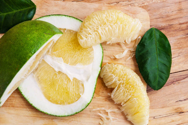 Healthy Pomelo or Chinese grapefruit stock photo