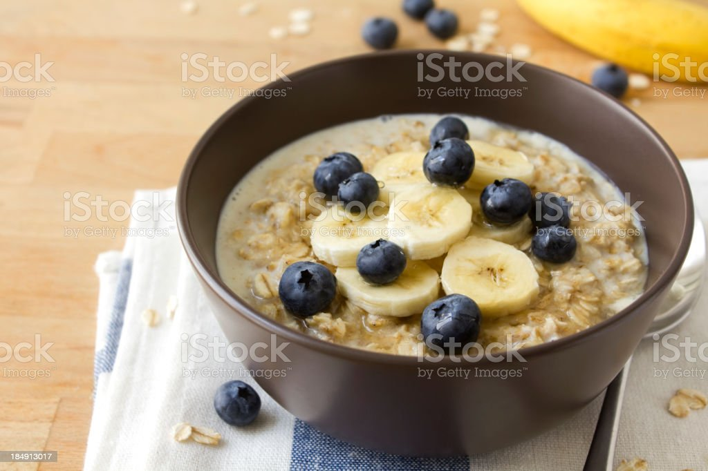 Healthy porridge stock photo