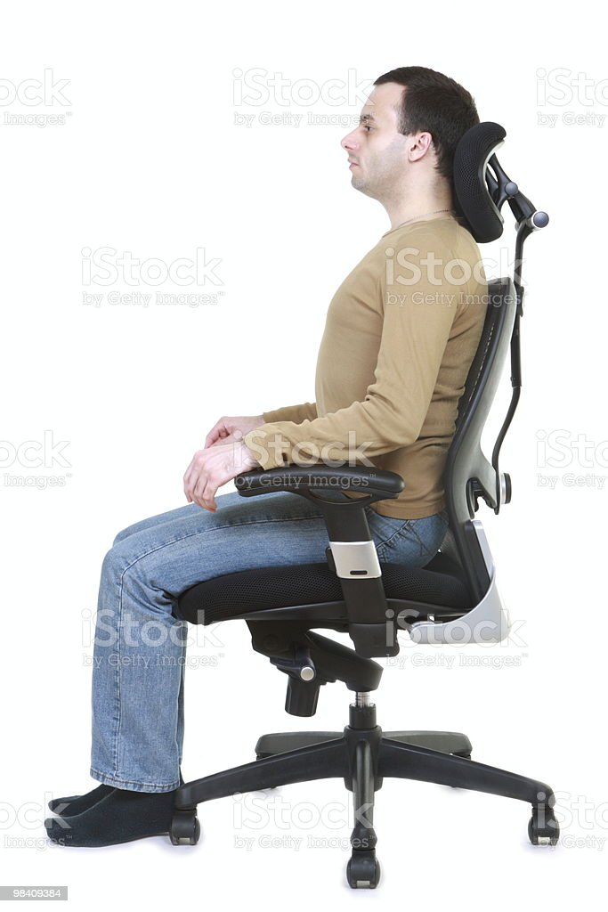 Healthy Posture (series) royalty-free stock photo