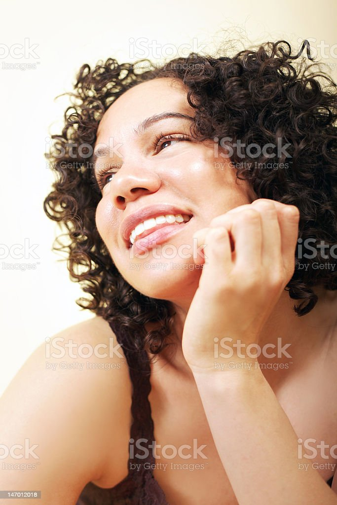 Healthy pretty young woman stock photo