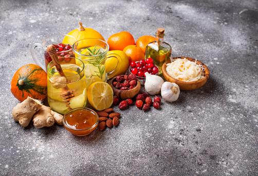 Healthy Products For Immunity Boosting - zdjęcia stockowe i więcej obrazów Antybiotyk