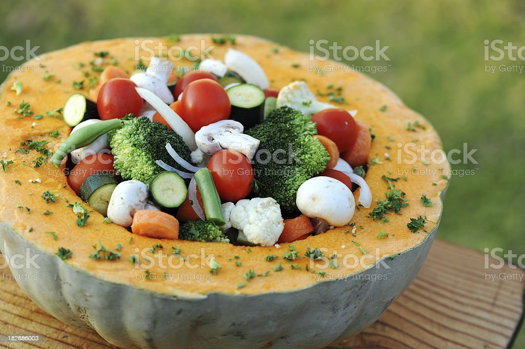 Healthy Pumpkin royalty-free stock photo