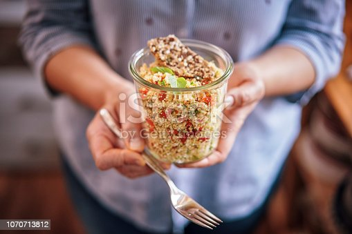 Healthy Quinoa Salad in a Jar