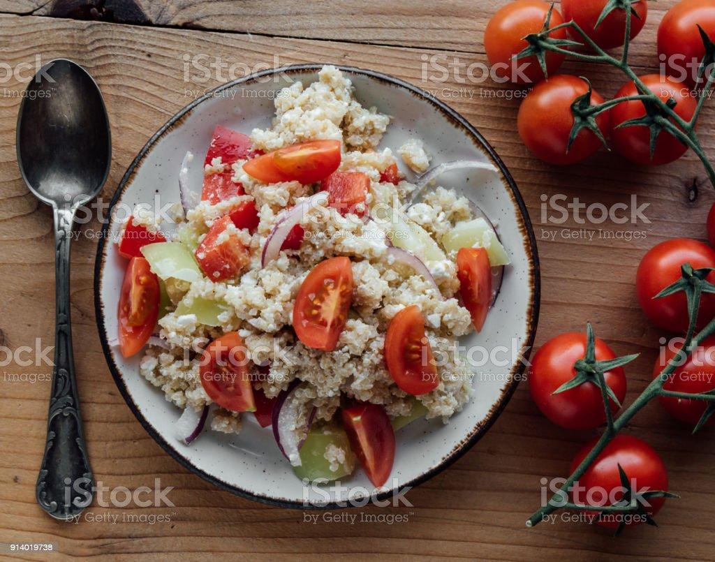 healthy quinoa salad stock photo