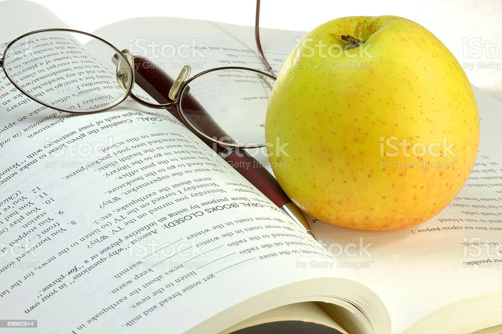 Healthy reading royalty-free stock photo