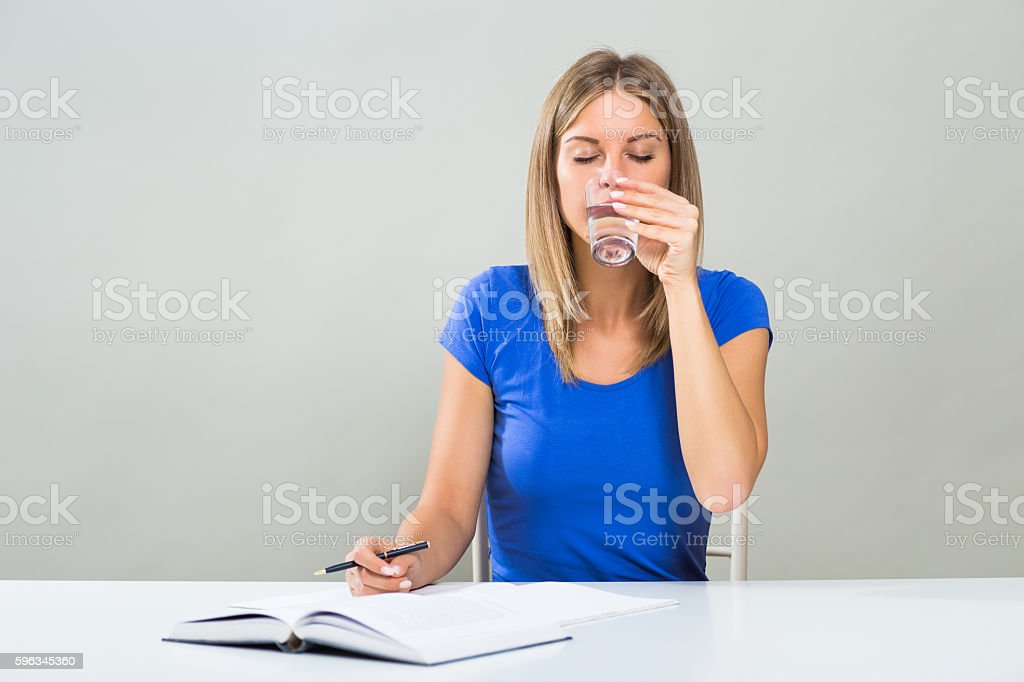 Healthy refreshment for student royalty-free stock photo