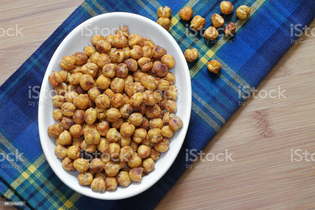 Healthy Roasted Chick Peas stock photo