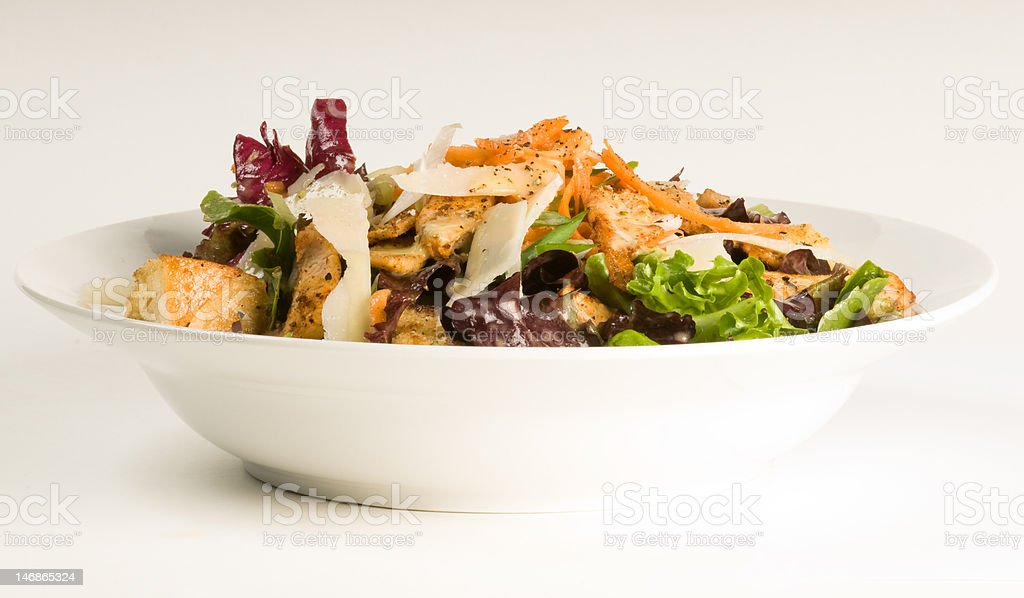 Healthy salad dinner on white royalty-free stock photo