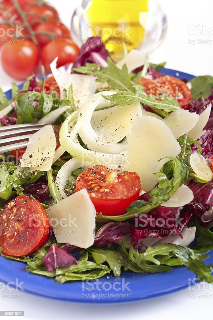 healthy salad mix with cheese royalty-free stock photo