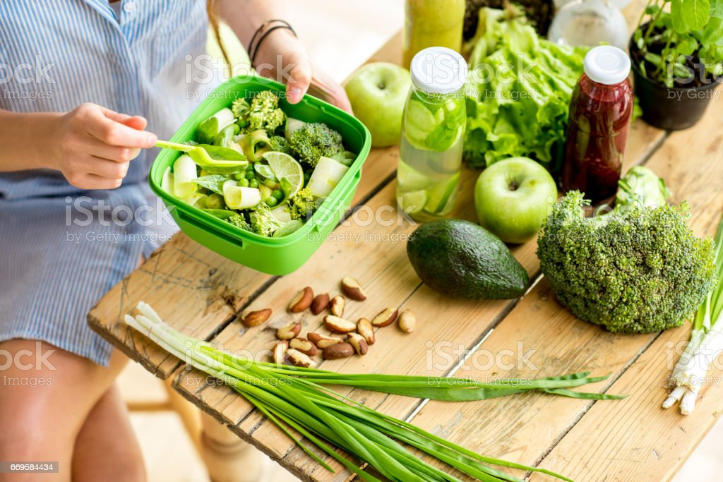 Healthy salad on the table stock photo