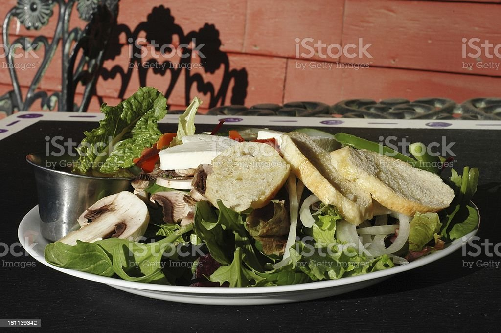 healthy salad outside royalty-free stock photo
