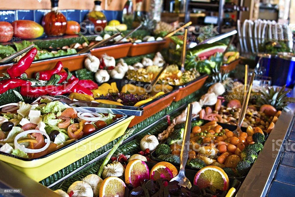 Healthy salads royalty-free stock photo