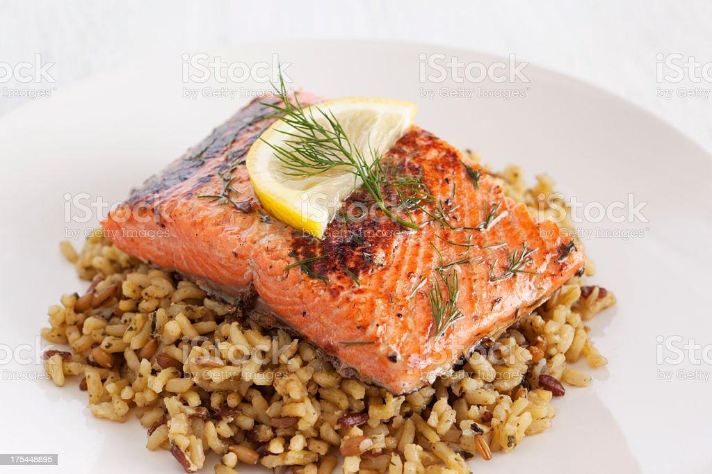 Healthy salmon dish royalty-free stock photo