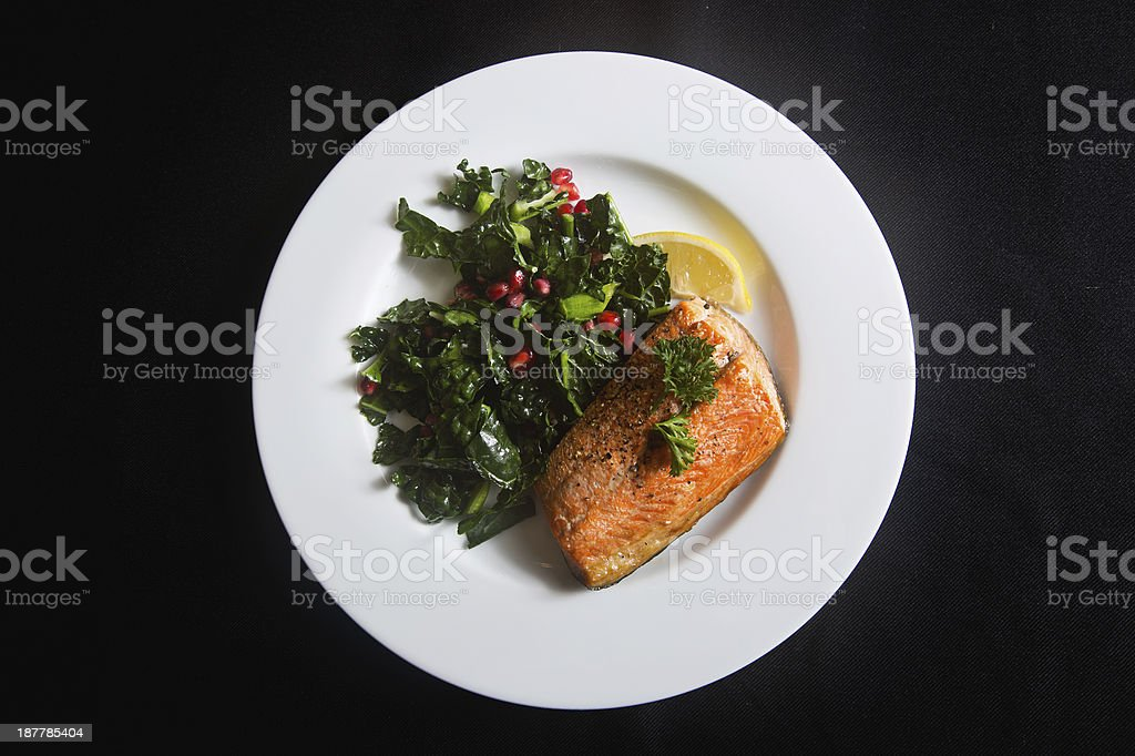 healthy salmon meal stock photo