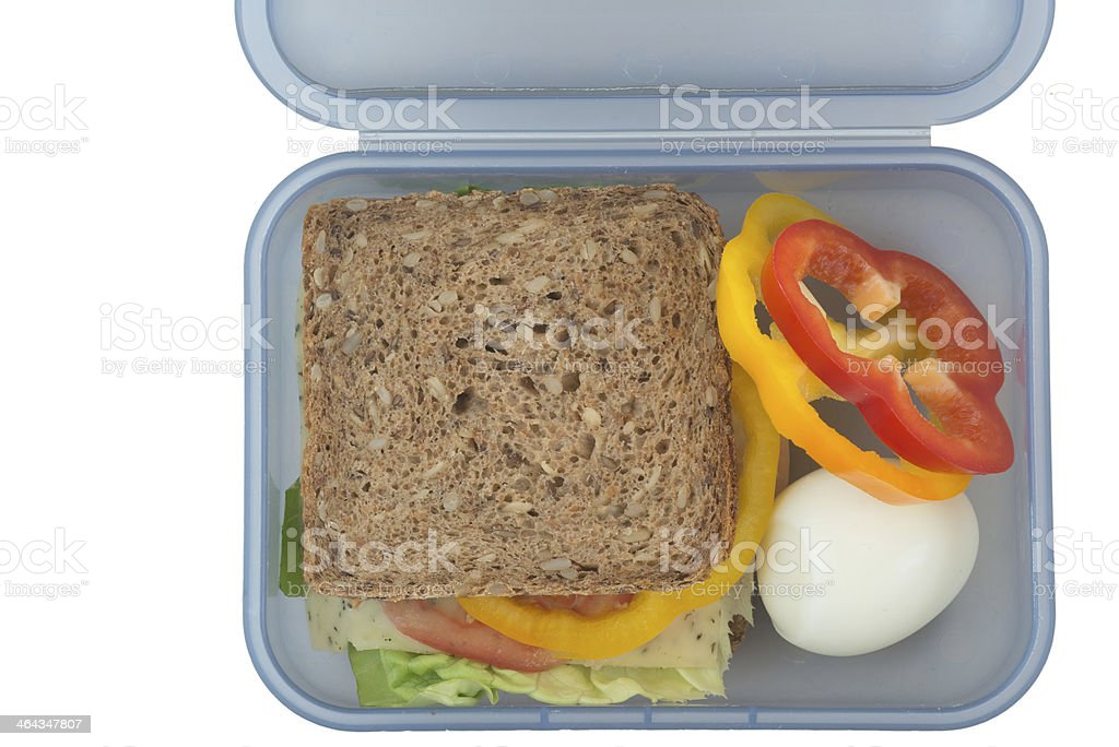 healthy sandwich in lunchbox royalty-free stock photo