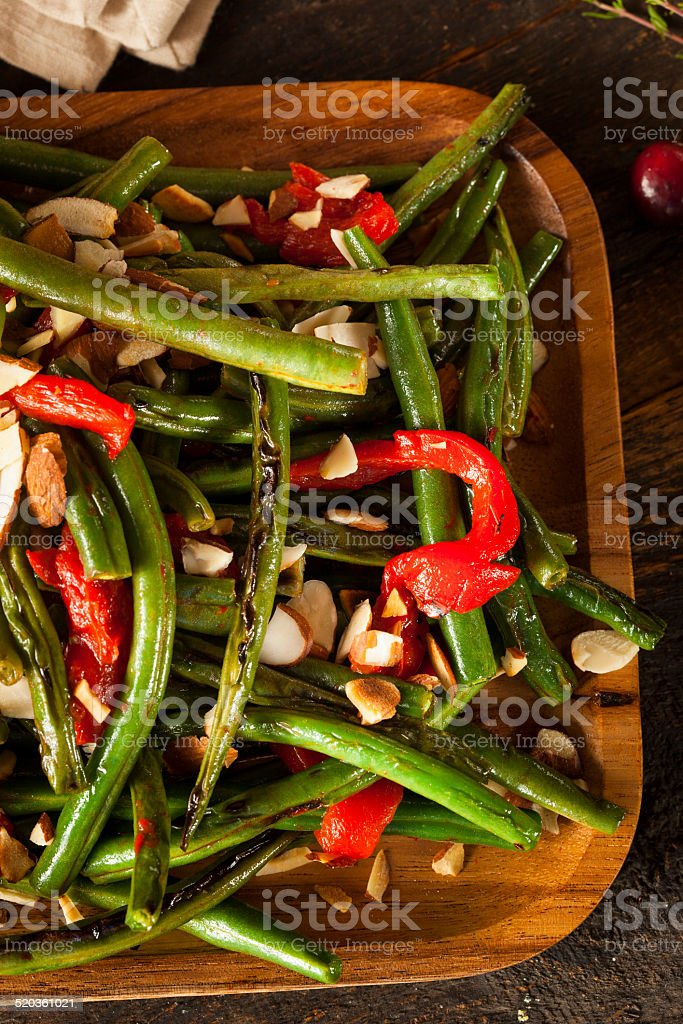 Healthy Sauteed Green Beans stock photo