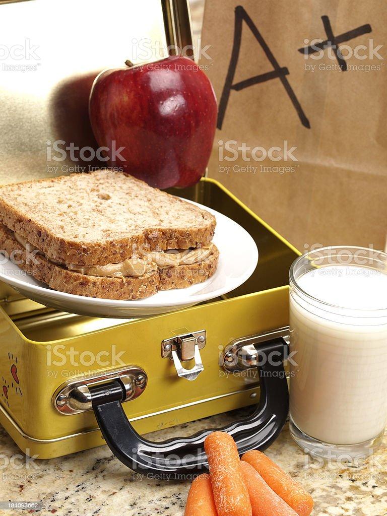 Healthy School Lunch stock photo