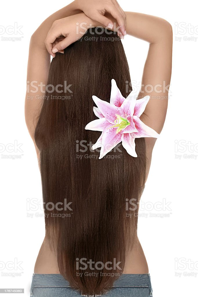 Healthy silky hair royalty-free stock photo