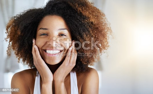 istock Healthy skin looks good and feels good 637130402