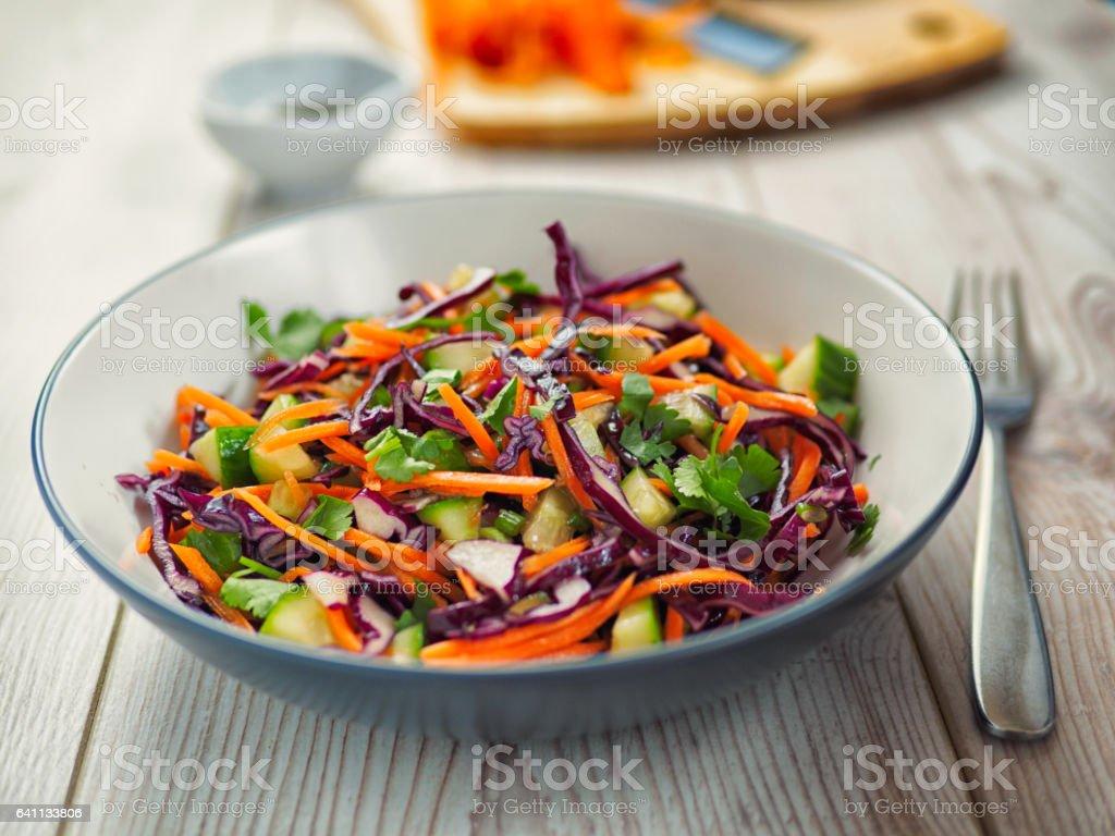 Healthy slaw stock photo