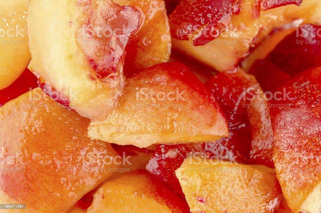 Healthy sliced peaches royalty-free stock photo