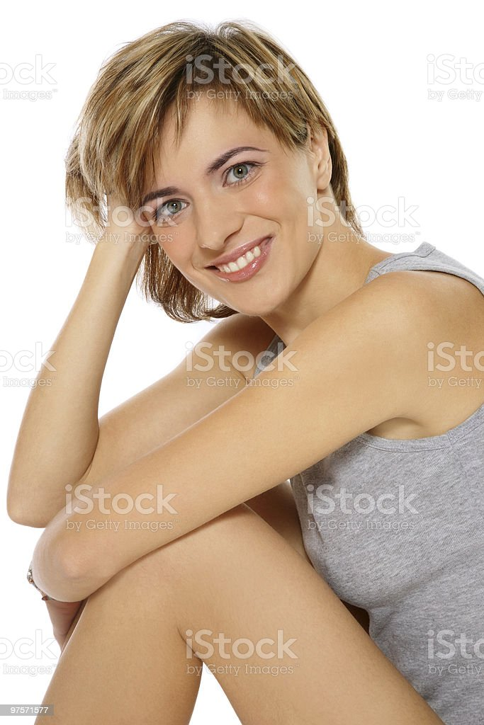 Healthy smiling woman royalty-free stock photo